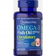 Omega-3 Fish Oil Plus Circulatory Support (60 капсул)