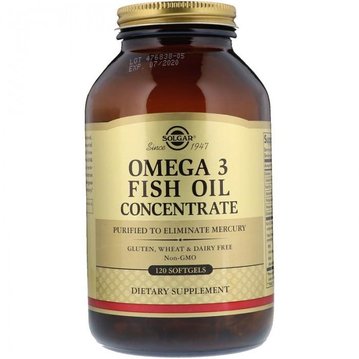 Omega 3 концентрат рыбьего жира (120 капсул)