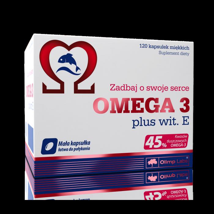 Omega 3 45% + Vitamin E (120 капсул)