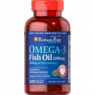 Omega-3 Fish Oil 1200 mg (200 капсул)