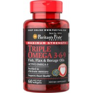 Maximum Strength Triple Omega 3-6-9 (60 капсул)