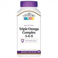 Витамины 21st Century Triple Omega Complex 3-6-9 90 Softgels