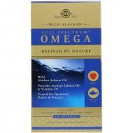 Рыбий жир из лосося (Full Spectrum Omega),  Омега, Solgar SOL01110, 120 капсул
