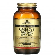 Омега - 3 (Omega-3, EPA DHA), Solgar, 950 мг, 100 кап