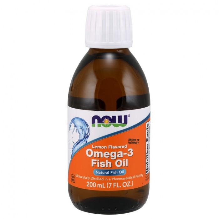 Омега Now Foods Omega-3 Fish Oil 200мл Лимон