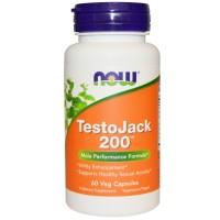 Репродуктивное здоровье мужчин, TestoJack 200, Now Foods, 60 капсул