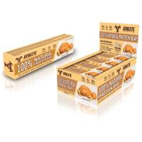 Блок батончиков - 12 шт Protein Bar Athlete Genetics (70 грамм) арахисовое масло
