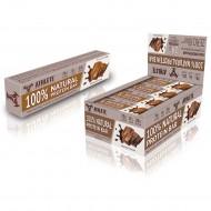 Блок батончиков - 12 шт Protein Bar Athlete Genetics (70 грамм) шоколад какао