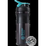 Шейкер Blender Bottle SportMixer Черно-голубой (828 мл.)