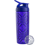 Шейкер Sleek c шариком 820 ml - (Purple Tratan Plaid)