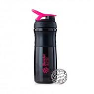 Шейкер Blender Bottle SportMixer Черно-розовый (828 мл.)