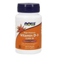 Витамин D-3 2000IU, Now Foods, 120 Желатиновых Капсул
