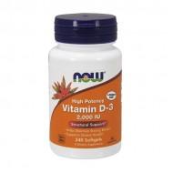 Витамин D-3 2000IU, Now Foods, 240 Желатиновых Капсул