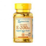 Vitamin E 90 mg (200 IU) Puritan's Pride, 100 капсул