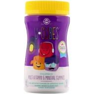 Мультивитамины и минералы для детей жевательные, Childrens Multi-Vitamin & Mineral, Solgar, U-Cubes, 60 конфет