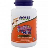 Berry Dophilus, Для детей, Now Foods, 2 млрд., 60 жевательных таблеток