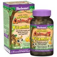 Bluebonnet Nutrition Vitamin C, Rainforest Animalz, Natural Orange Flavor, 90 Animal-Shaped Chewables