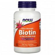 Biotin, Now Foods, 10000 мкг, 120 капсул
